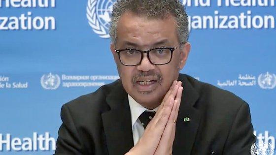 Tedros Adhanom Ghebreyesus disse que a OMS está especialmente preocupada com o aumento de casos em países de baixo ou médio rendimento