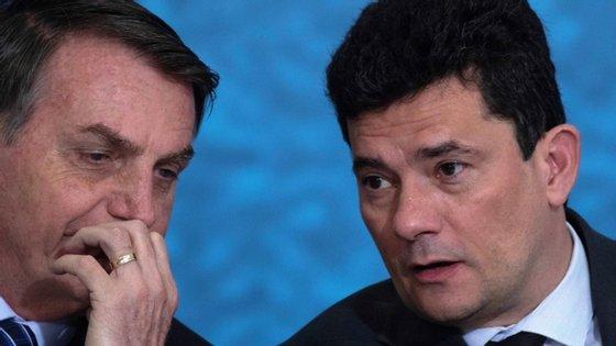 """""""Graças a Deus ficámos livre dele"""", afirmou Bolsonaro sobre Sergio Moro"""