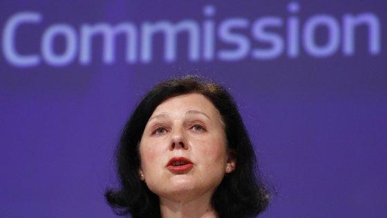 A vice-presidente da Comissão Europeia com a pasta dos Valores e Transparência, Vera Jourová.