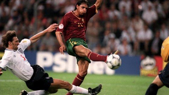 O avançado só foi titular contra a Inglaterra porque Pauleta estava castigado e Sá Pinto lesionado