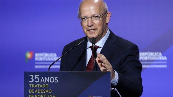 Augusto Santos Silva discursava na cerimónia comemorativa dos 35 anos da assinatura do tratado de adesão de Portugal à União Europeia