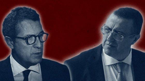 António Mexia (à esquerda) interpôs um incidente de recusa do juiz Carlos Alexandre (à direita) que ainda está em apreciação no Tribunal da Relação de Lisboa