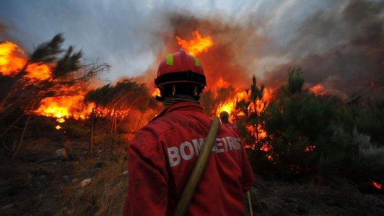 """Segundo a GNR, o autor do incêndio deu o alerta às autoridades e ainda tentou extinguir o incêndio com recurso a uma mangueira"""","""