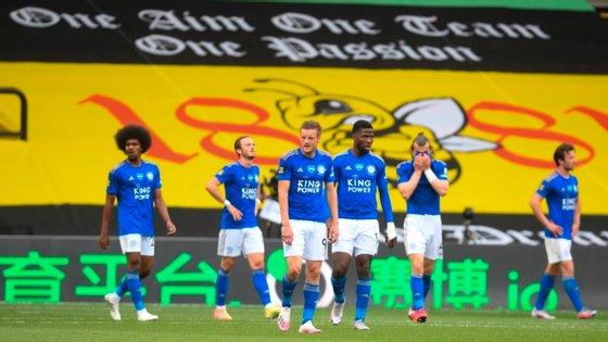 Ben Chilwell marcou para o Leicesterr aos 90 minutos, Craig Dawson empatou já nos descontos