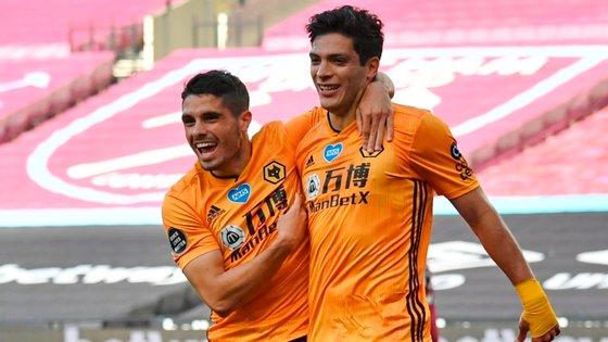 O avançado português marcou o segundo golo da partida, depois de Raúl Jiménez abrir o marcador