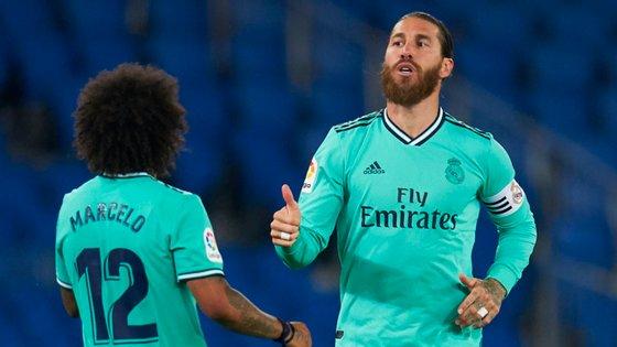 O central espanhol saiu lesionado pouco depois de marcar, na sequência de um lance na grande área do Real Madrid