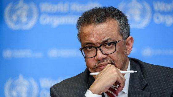 Tedros Adhanom Ghebreyesus, o diretor-geral da Organização Mundial da Saúde, foi o último orador do primeiro dia do Collision