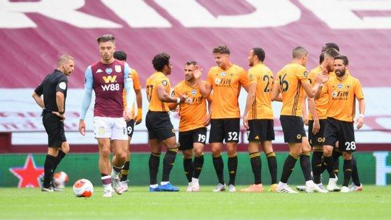 Dendoncker, jogador do Wolverhampton com mais quilómetros percorridos a par de Moutinho e Rúben Neves, deu vitória frente ao Aston Villa