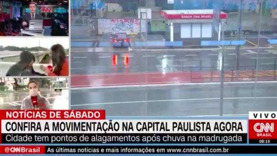 O assalto aconteceu na manhã deste sábado em São Paulo (Imagem retirada do vídeo)