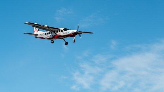 O primeiro voo do eCaravan aconteceu no final de maio nos Estados Unidos
