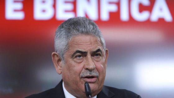 Luís Filipe Vieira chegou à presidência do Benfica em 2003 e irá apresentar-se de novo a eleições em outubro deste ano