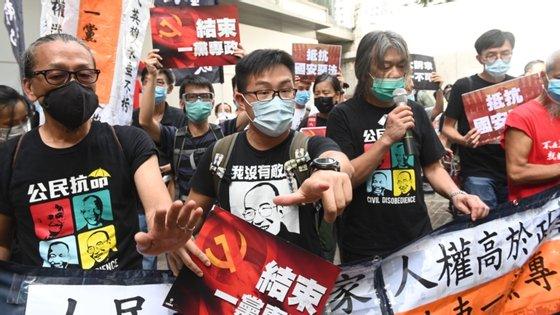 """""""A lei de segurança nacional é um ponto de viragem entre o caos e a boa governança"""", disse Carrie Lam"""