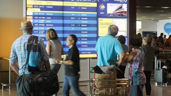 No dia 1 de julho, cerca de 400 passageiros desembarcam no Aeroporto Internacional da Madeira, provenientes de Lisboa, Porto e Ponta Delgada