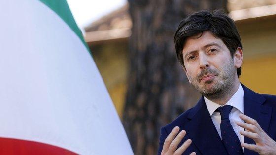 O ministro da Saúde de Itália, Roberto Speranza, em entrevista à televisão RAI.