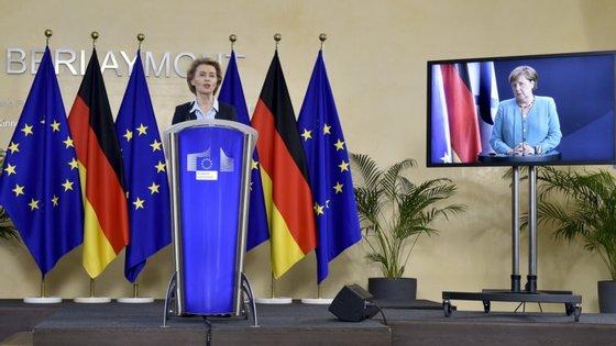 A presidente da Comissão Europeia insistiu na urgência de os 27 chegarem a um acordo o quanto antes sobre o Fundo de Recuperação