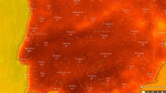 O pico de temperatura deverá ser atingido entre domingo e segunda-feira, indica o IPMA