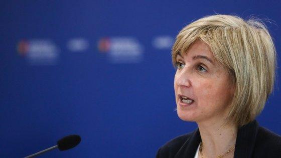 """""""Os números não são ainda aqueles que gostaríamos de ter"""", afirmou a ministra da Saúde, Marta Temido"""