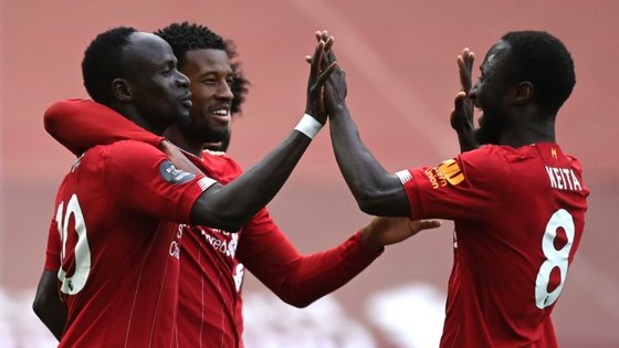 O jogador senegalês marcou o primeiro golo do jogo já a 20 minutos do apito final
