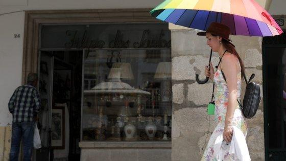 IPMA aconselha a utilização de óculos de sol com filtro UV, chapéu, t-shirt, guarda-sol, protetor solar e evitar a exposição das crianças ao Sol