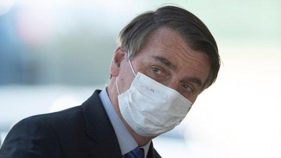 Jair Bolsonaro tem utilizado máscara nos eventos públicos