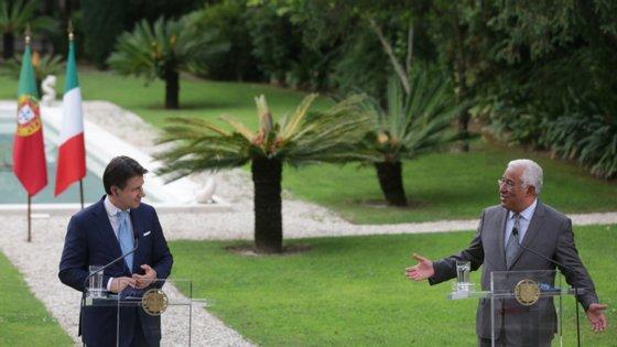 Depois de Pedro Sánchez, Costa recebeu em Lisboa Giuseppe Conte. Para a semana reúne-se com Rutte, em Haia.