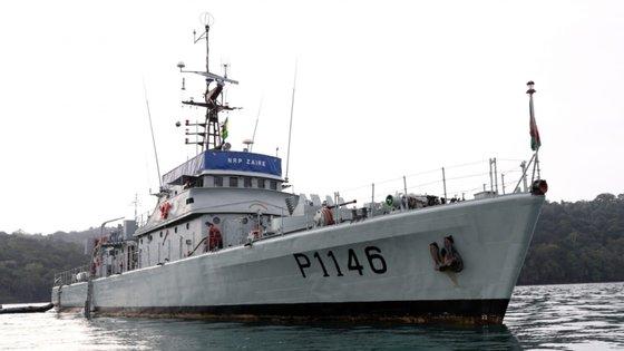 O navio português NRP Zaire chegou a São Tomé a 22 de janeiro de 2018