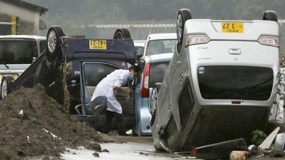 A maioria dos mortos foi registada em Kyushu, a terceira maior ilha do Japão