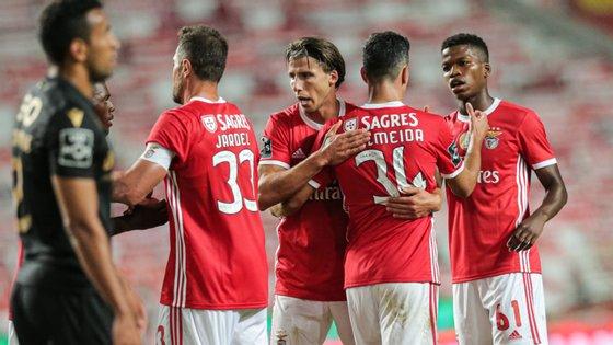 O jogador português foi um dos melhores dos encarnados no jogo contra o V. Guimarães