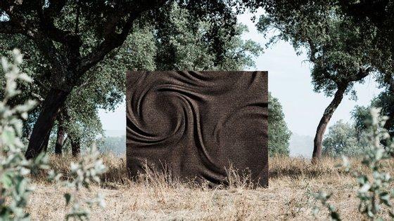 Corkwirl é uma uma parede que imita o movimento da água ou do vento recentemente premiada no Red Dot Award para Product Design 2020