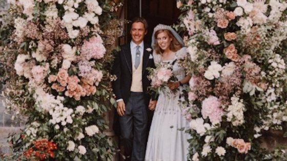 Beatrice casou-se esta sexta-feira com o multimilionário Edoardo Mozzi