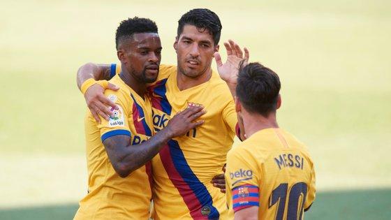 O lateral português marcou o quarto golo da goleada do Barcelona