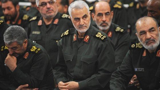 Qassem Soleimani, general da Guarda Revolucionária e considerado um herói iraniano, foi morto a 3 de janeiro de 2020 por um drone militar norte-americano