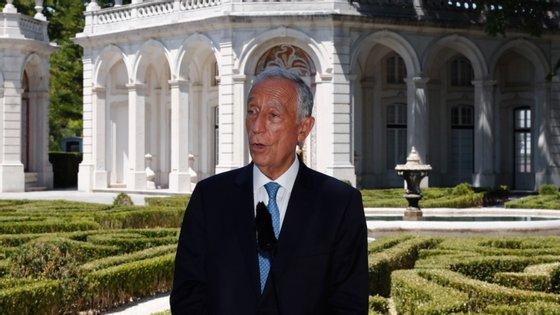 """Marcelo Rebelo de Sousa reiterou não poder acrescentar mais nada, pois tudo o resto seria imiscuir-se na """"vida interna"""" da Assembleia da República."""