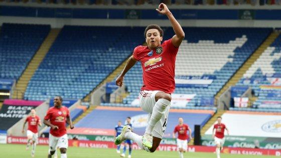 O avançado inglês fechou a vitória do Manchester United contra o Leicester, que valeu o apuramento da equipa de Bruno Fernandes para a Liga dos Campeões