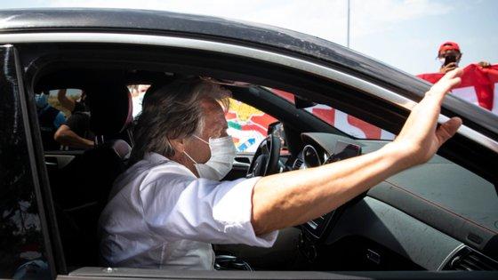 Jorge Jesus encontra-se há mais de uma semana em Lisboa a trabalhar no Benfica mas só esta segunda-feira será apresentado