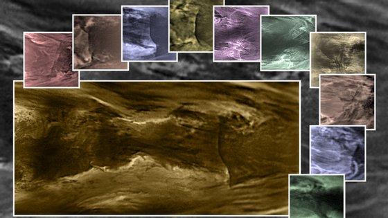 Foram as imagens de infravermelhos nas nuvens baixas de Vénus que permitiram perceber a existência de uma descontinuidade à escala planetária