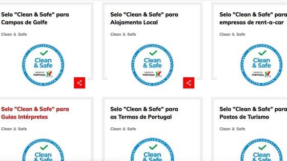 """""""Print screen"""" da página oficial do Turismo de Portugal"""