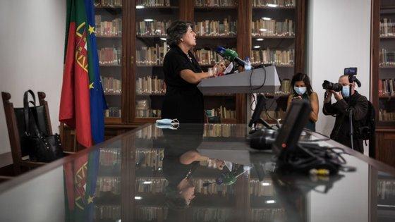 Ana Gomes anunciou esta quinta-feira a candidatura a Belém na Casa da Imprensa só com jornalistas presentes na sala