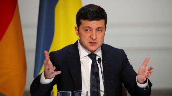 Volodymyr Zelenskiy, Presidente da Ucrânia, discursou esta quarta-feira perante a Assembleia Geral das Nações Unidas