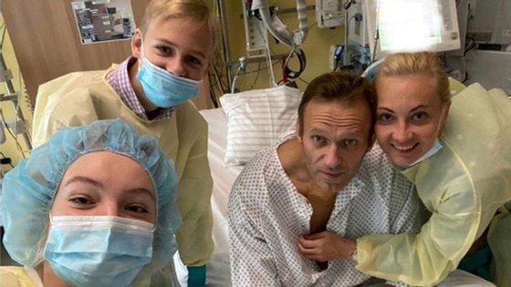 Alexei Navalny saiu na terça-feira do hospital de Charité em Berlim