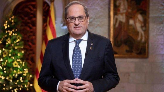 Quando esta pena for executada, Torra fica afastado do cargo de líder da Generalitat catalã