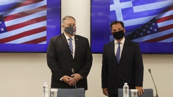 Os Estados Unidos e a Grécia destacaram a vontade de cooperação em questões relacionadas com segurança regional, controlo de fronteiras e outros