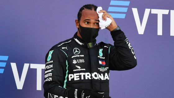 O piloto da Mercedes ficou em terceiro no Grande Prémio da Rússia, atrás do colega de equipa Bottas e ainda de Verstappen