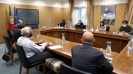 Bloco saiu já com nova reunião marcada com o primeiro-ministro para o próximo fim de semana.