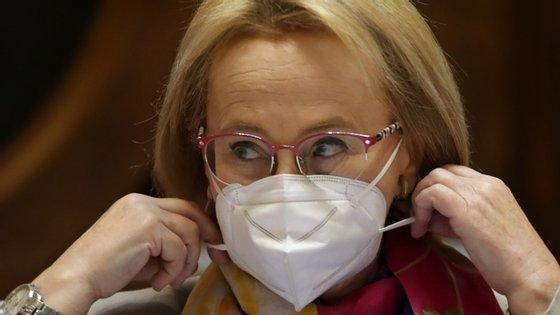 A diretora-Geral da Saúde, Graça Freitas, esteve esta quarta-feira no Parlamento, para uma audição conjunta da Comissão da Saúde e da Comissão do Trabalho e da Segurança Social
