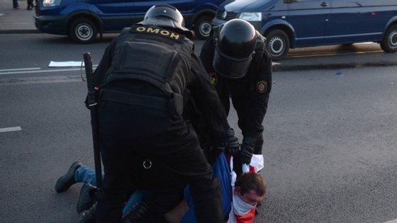 A capital da Bielorrússia é palco de protestos desde a reeleição de Alexander Lukashenko
