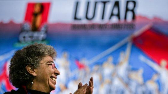 """Costa considera que """"a história do movimento sindical e do diálogo social em Portugal confundem-se com a história da CGTP-IN""""."""