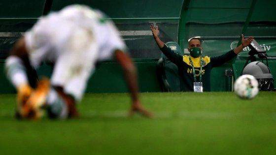Rúben Amorim regressou ao banco após ter estado afastado com Covid-19 e sofreu a primeira derrota em Alvalade desde que chegou ao Sporting