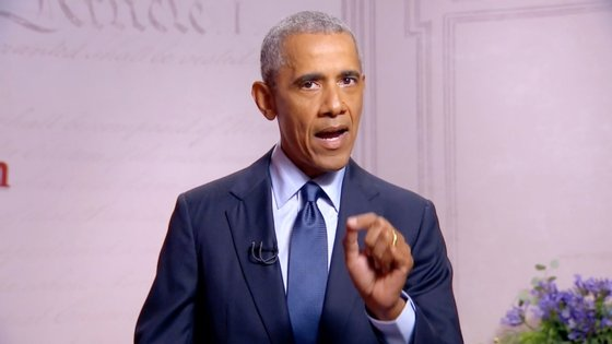 Obama falava durante numa arrecadação de fundos para o candidato democrata que decorreu online