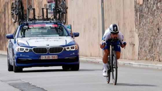 João Almeida liderou o contrarrelógio entre Monreale e Palermo (15 quilómetros) durante largos minutos, sendo apenas superado depois por Filippo Ganna